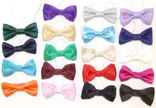 Kids Satin Wedding Bow Tie Elastic Band Baby Toddler