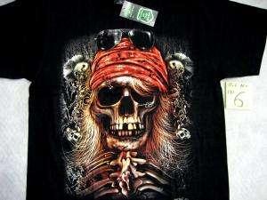 Skull Totenkopf Biker Chopper Vikinger T Shirt 19 Stk.