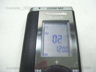PANASONIC RR US470 IC DIGITAL VOICE RECORDER