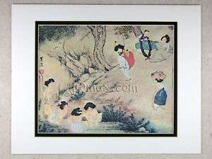 Korean Art Rice Paper Print, Matted #Dano