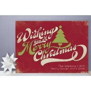 Merry Retro Christmas Holiday Non Photo Cards: Health