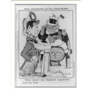 Historic Print (L): [Dutch cartoon showing Joseph Chamberlain as Satan