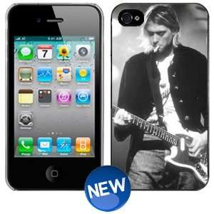 Kurt Cobain Nirvana Guitar B&W iPhone 4 4s Hard Phone Cover Case
