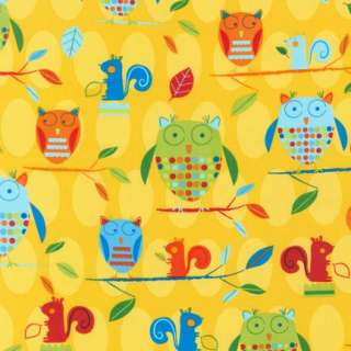 Animal Party Too! Funky Owl Summer Schimler Fabric