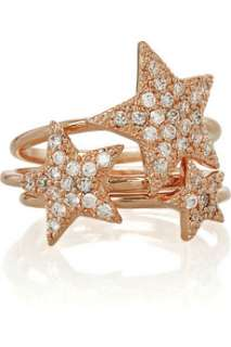 Angel Stacked rose gold plated star rings   50% Off Now at THE OUTNET