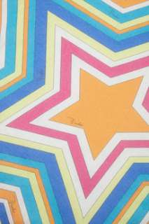 Emilio Pucci Star shaped printed cotton scarf   65% Off Now at THE
