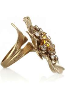 Bijoux Heart Gold tone Pansy ring   55% Off Now at THE OUTNET