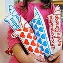 Retro Love Heart Valentine Print Toy Dog   toys & games