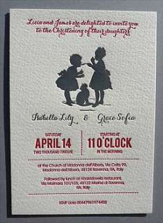 personalised twin s christening invitations by made by ellis