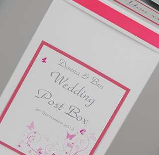 personalised butterfly wedding post box by dreams to reality design