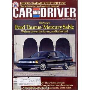 86 Preview: Ford Taurus/Mercury Sable   March, 1985: Everything Else