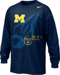 Michigan Wolverines Nike Navy 2012 BCS Sugar Bowl Bound Coordinates