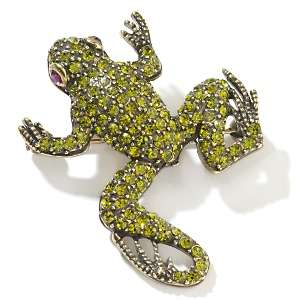 Heidi Daus Crystal Accented Frog Design Pin