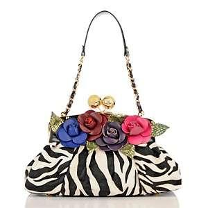 Sharif Couture Animal Print Hair Calf Leather Bag