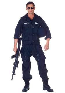 Plus SWAT Jumpsuit Costume   Adult Mens Police Officer Costume Idea