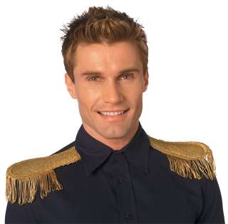 Gold Metallic Epaulettes   Prince Charming Costume Accessories