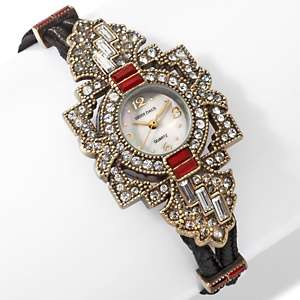 Heidi Daus Framed Crystal Double Cord Watch