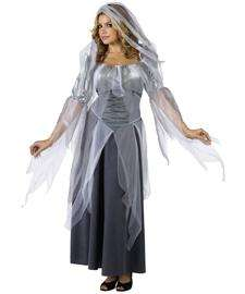 Silver Ghost Costume for Adults  Ghost Dress Halloween Costume