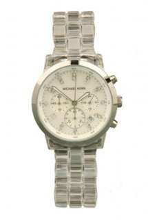 Transparent Crystal Chronograph by Michael Kors Watches   Metallic
