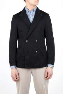 Store  Black Cotton Double Breasted Blazer by b Store