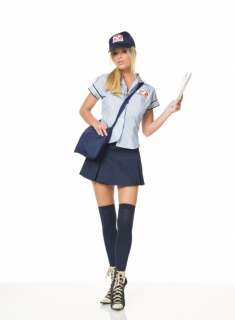 Adult Sexy Mail Delivery Costume   Sexy Letter Carrier Costumes