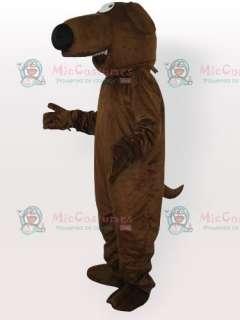 Big Nose Grey Dog Adult Mascot Costume  Big Nose Grey Dog Adult