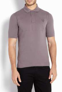 Fred Perry Blank Canvas  Grey Covered Placket 6876 Collab Polo Shirt