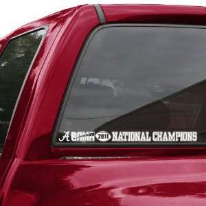 NCAA Alabama Crimson Tide 2011 BCS National Champions Car Decal Strip