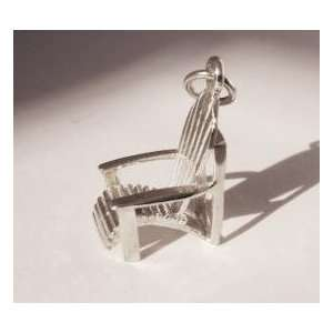 Sterling Silver Adirondack Chair Charm Pendant Everything