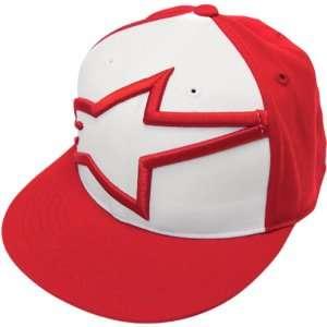 Alpinestars Big 210 Mens Fitted Race Wear Hat/Cap   Red