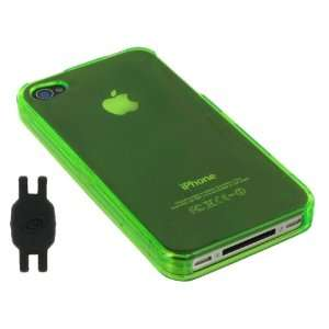 Green Translucent Snap On Hard Case for Apple iPhone 4 4th Generation