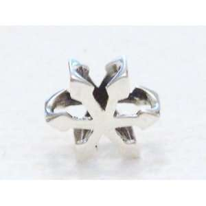 Authentic 925 sterling silver Snowflake charm fits pandora