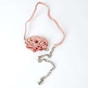 Flower Braid Thin Belt Waist Chain Necklace Pink Toys