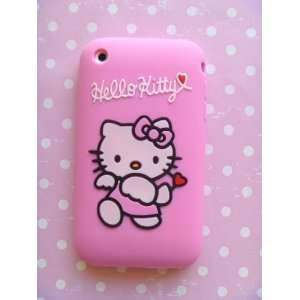 Premium Pink Hello Kitty Cupid Silicone Full Cover Case for iphone 3G