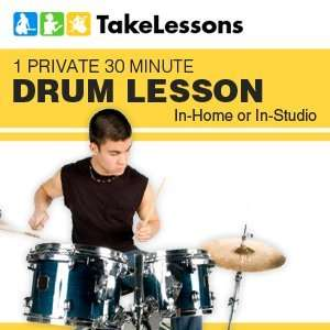 Private 30 Minute Drum Lesson In home or In Studio