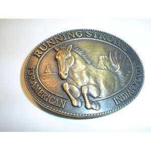 AMERICAN INDIAN YOUTH BELT BUCKLE     HORSE