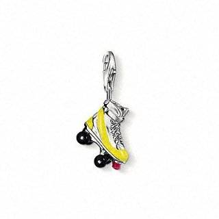 Rembrandt Charms Roller Skates Charm, 14K Yellow Gold