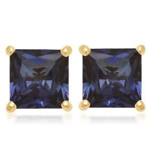 10k Yellow Gold, September Birthstone, Created Ceylon Sapphire 6 mm