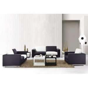 0894 Modern White and Black Sofa Set