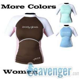 Body Glove Aura Womens Short Sleeve Lycra Rash Guard