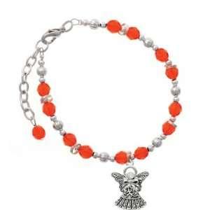 with Bow & Swarovski Crystal Orange Czech Glass Beaded  Jewelry