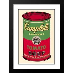 Andy Warhol Framed and Double Maed Pop Ar 23x20 Campbells Soup