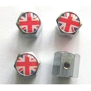 Kingdom England British Flag Anti theft Car Wheel Tire Valve Stem Caps
