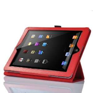 ATC New Red PU Leather Carry Case/Cover/Wallet Stand and