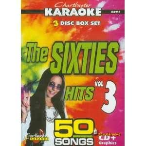 Chartbuster Karaoke CDG 3 Disc Pack CB5091   The Sixties