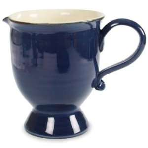 Ital Earthenware Dark Blue Pitcher 8.3  Kitchen & Dining