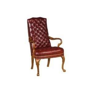 Distinction Leather Tufted Gooseneck High Back Chair