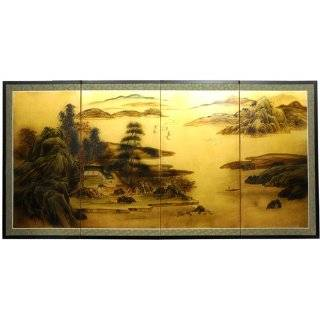 Huge Large Asian Wall Art   6ft. Geese in Water Japanese Style Sumi e