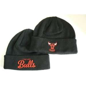 NBA Chicago Bulls Script Cuffed Beanie:  Sports & Outdoors