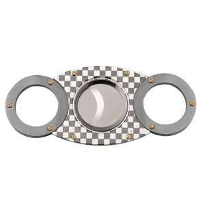High Quality Stainless Steel Cigar Cutter, 4696 C, Checker